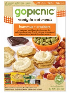 Hummus and Crackers GoPicnic Meal