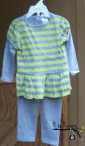 Carters Kids Clothes Stripe Top Legging Set