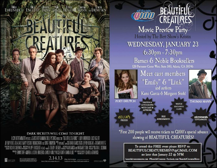 BEAUTIFUL CREATURES MOVIE PREVIEW PARTY E-VITE