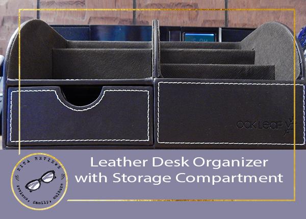 Leather Desk Organizer with Storage Compartment #oakleaf