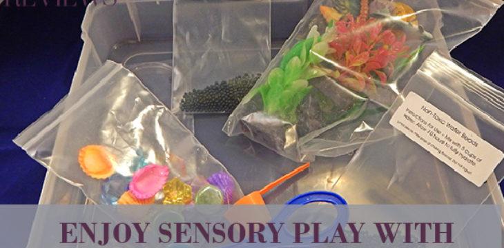 enjoy sensory play with ocean exploration discovery box
