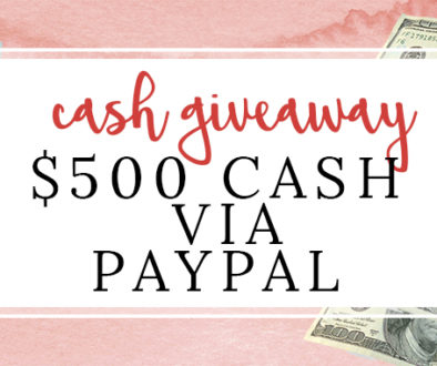 500 cash giveaway featured