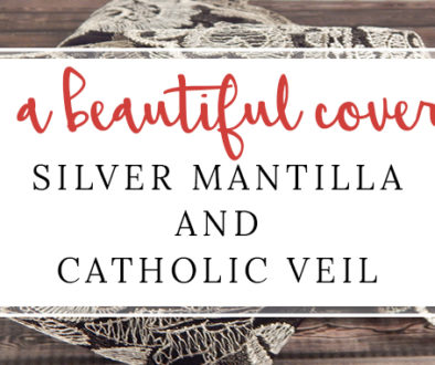 Silver Mantilla and Catholic Veil featured