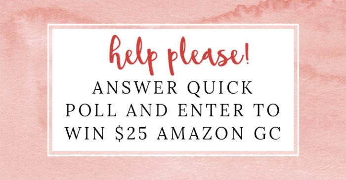 Please Help Me! $25 Amazon Gift Card Giveaway